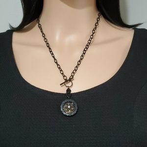Origami Owl Black Sentiments Locket Necklace